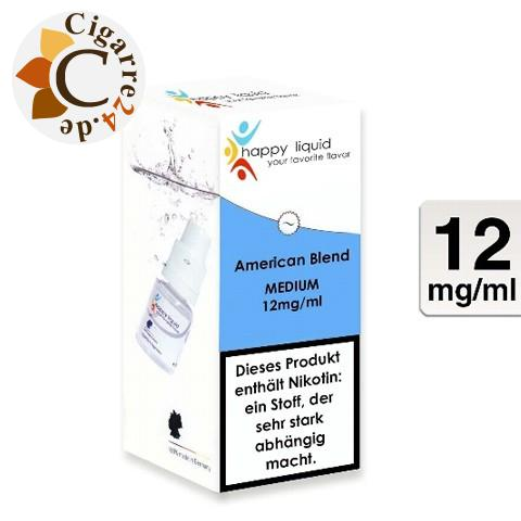 happy liquids E-Liquid American Blend 12mg Nikotin