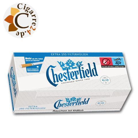 Chesterfield Blue Extra Zigarettenhülsen, 250er
