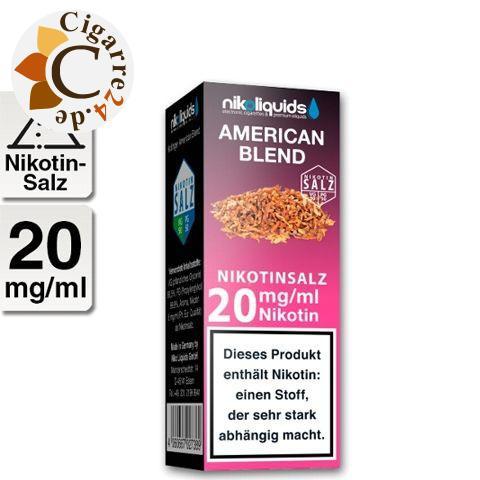 Nikoliquids E-Liquid Nikotinsalz American Blend 20mg Nikotin