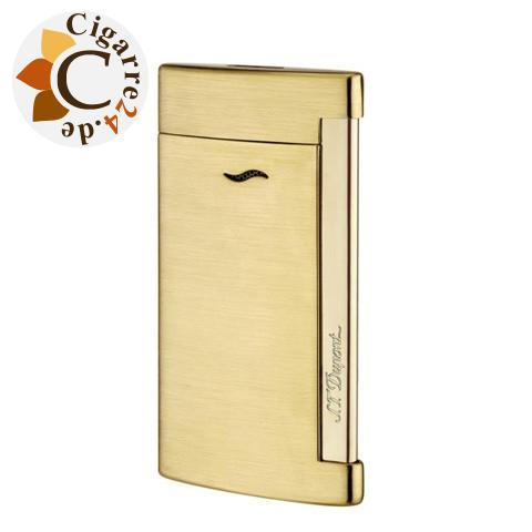 S.T. Dupont Feuerzeug Slim 7 gold gebürstet