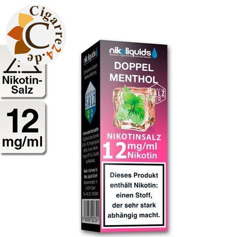 Nikoliquids E-Liquid Nikotinsalz Doppel Menthol 12mg Nikotin