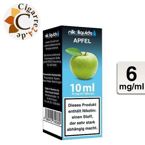 Nikoliquids E-Liquid Apfel 6mg Nikotin - 50PG-50VG