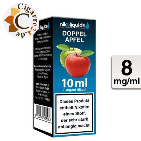 Nikoliquids E-Liquid Doppel Apfel 8mg Nikotin