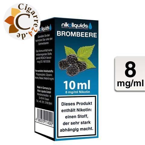 Nikoliquids E-Liquid Brombeere 8mg Nikotin