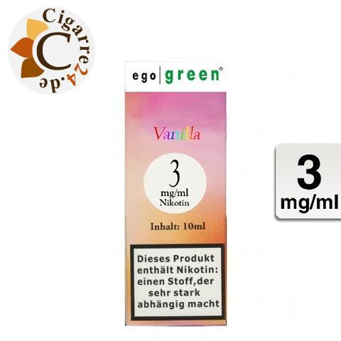 Ego Green E-Liquid Vanilla 3mg Nikotin