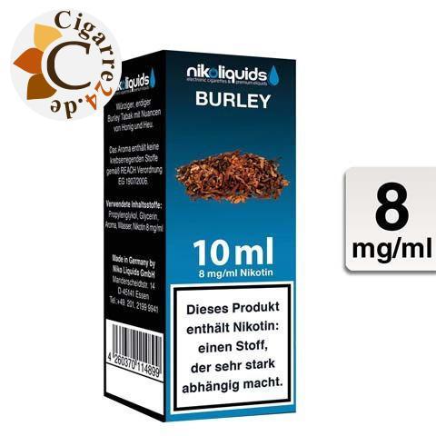 Nikoliquids E-Liquid Burley 8mg Nikotin