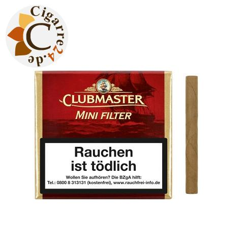 Clubmaster Mini Filter Red Zigarillos, 20er