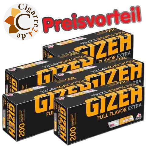 5 x Gizeh Extra Zigarettenhülsen, 200er