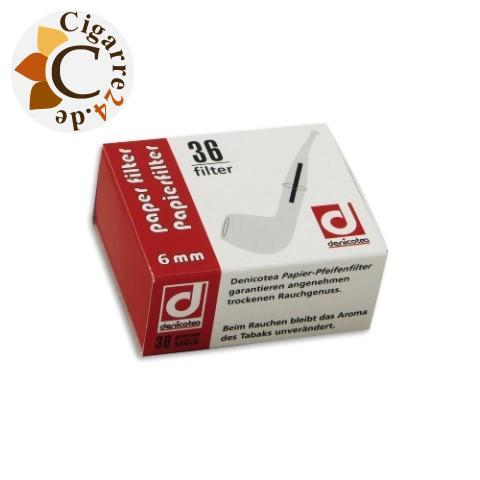 denicotea Pfeifenfilter 6 mm, 36er