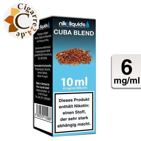 Nikoliquids E-Liquid Cuba Blend 6mg Nikotin