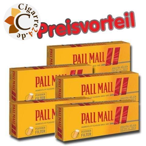 5 x Pall Mall Allround Red Xtra Hülsen, 200er