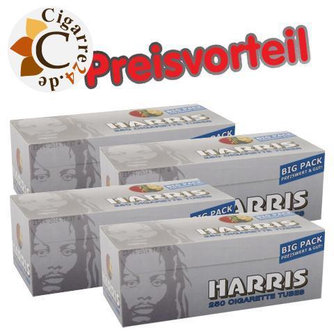 4 x Harris Zigarettenhülsen, 250er