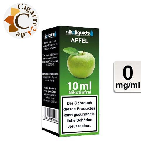 Nikoliquids E-Liquid Apfel ohne Nikotin - 50PG-50VG