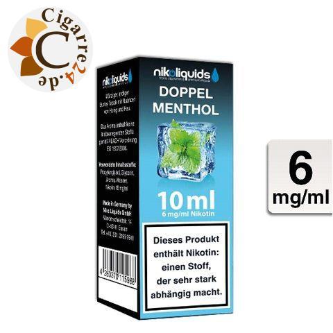 Nikoliquids E-Liquid Doppel Menthol 6mg Nikotin - 50PG-50VG