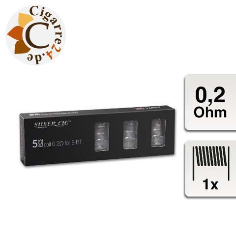 SilverCig E-Clearomizercoil für E-Fit - 0.2 Ohm