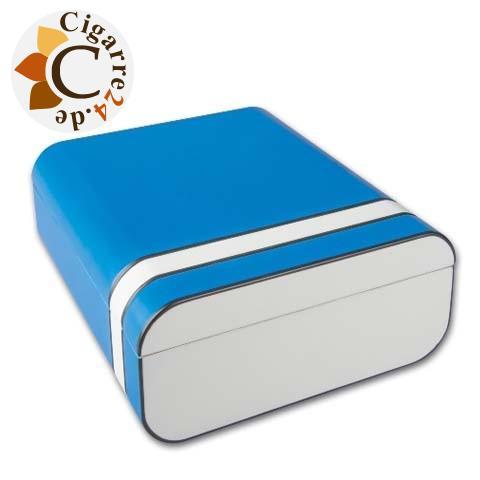 Humidor Passatore blau/weiß/silber matt