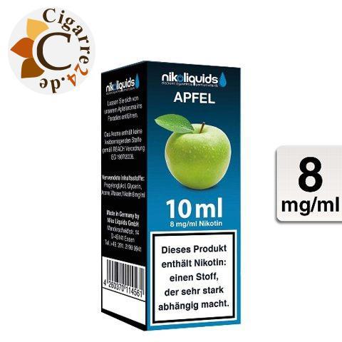 Nikoliquids E-Liquid Apfel 8mg Nikotin - 50PG-50VG