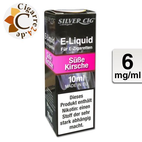 Silver Cig E-Liquid Süße Kirsche 6mg Nikotin