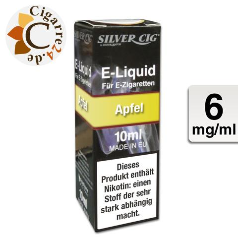 Silver Cig E-Liquid Apfel 6mg Nikotin