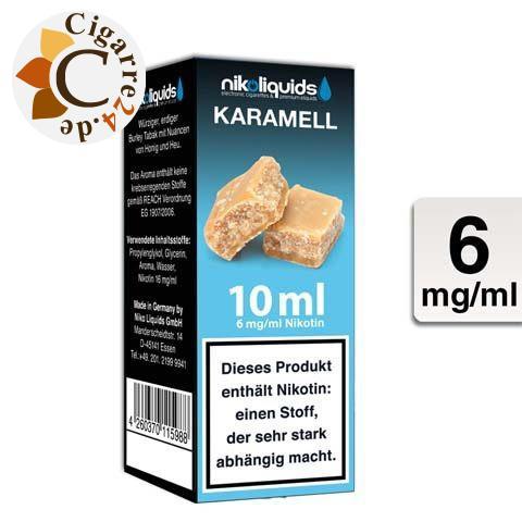 Nikoliquids E-Liquid Karamell 6mg Nikotin