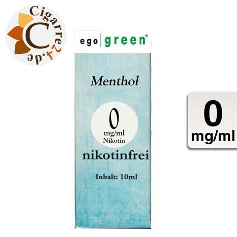 Ego Green E-Liquid Menthol ohne Nikotin