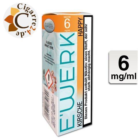 E'Werk E-Liquid Happy [Kirsche] 6mg Nikotin