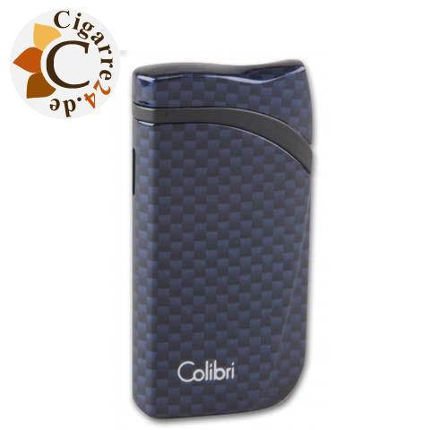 Colibri Cigarrenfeuerzeug Schrägflamme Falcon 2 Carbon blau