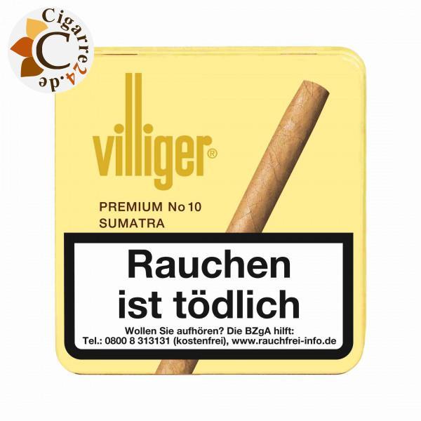 Villiger Premium No 10 Sumatra Zigarillos, 20er