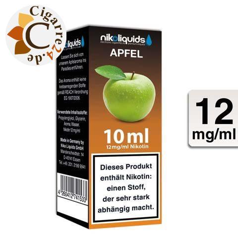 Nikoliquids E-Liquid Apfel 12mg Nikotin - 70PG-30VG