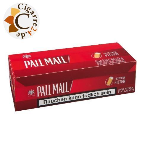 Pall Mall Red Xtra Hülsen, 200er