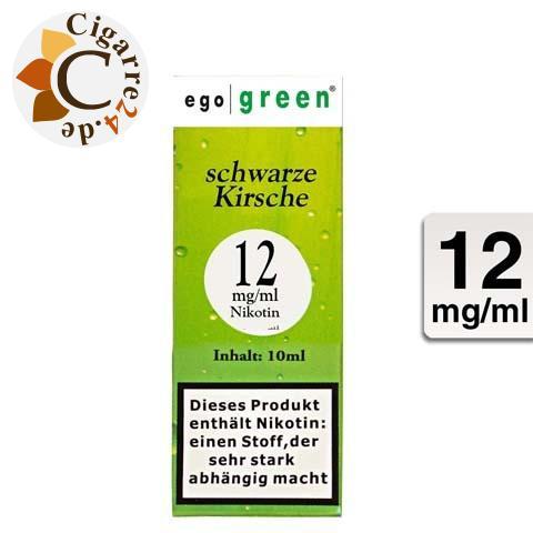 Ego Green E-Liquid schwarze Kirsche 12mg Nikotin