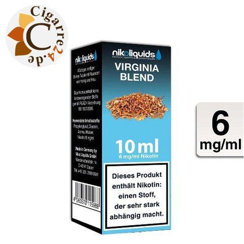 Nikoliquids E-Liquid Virginia Blend 6mg Nikotin - 50PG-50VG