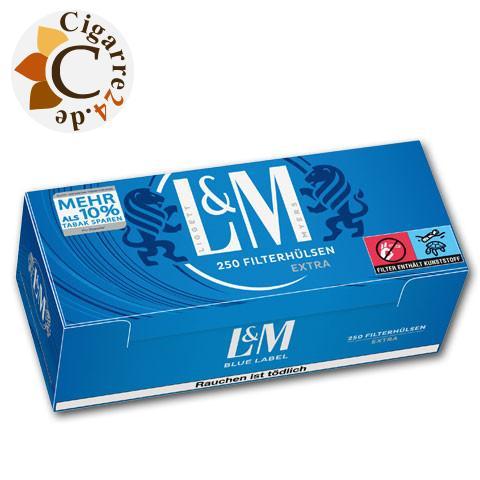 L&M Extra Filterhülsen Blue Label, 250er