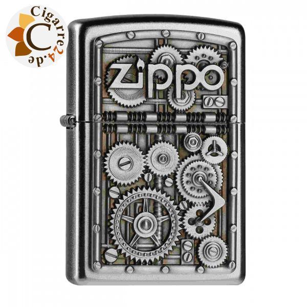 Zippo Chrom satiniert Gear Wheels