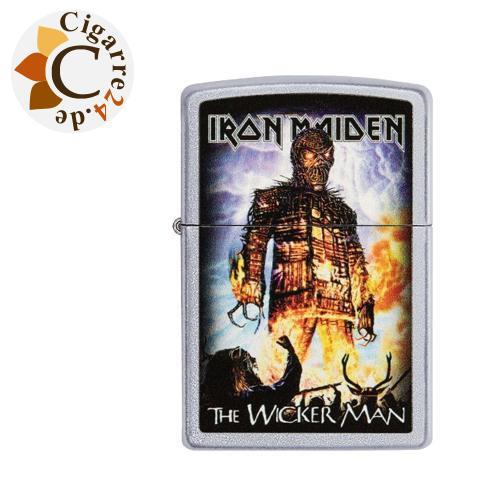 Zippo Chrom satiniert Iron Maiden