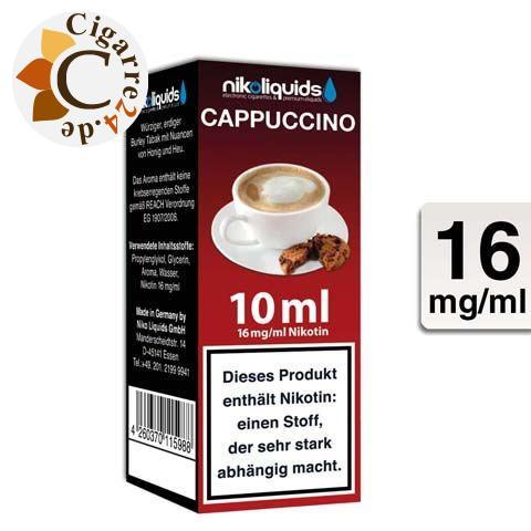 Nikoliquids E-Liquid Cappuccino 16mg Nikotin