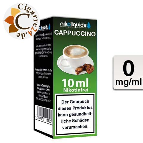 Nikoliquids E-Liquid Cappuccino ohne Nikotin