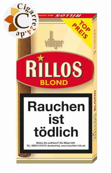 Rillos Blond Zigarillos, 5er