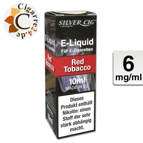 Silver Cig E-Liquid Red Tobacco 6mg Nikotin