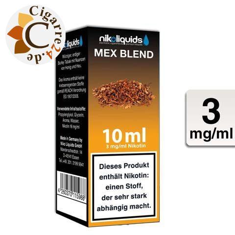 Nikoliquids E-Liquid Mex Blend 3mg Nikotin