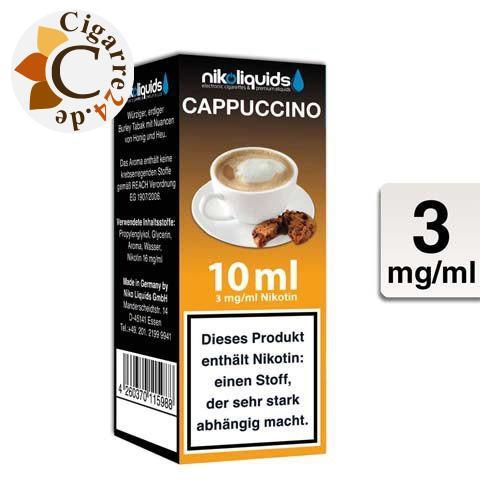 Nikoliquids E-Liquid Cappuccino 3mg Nikotin