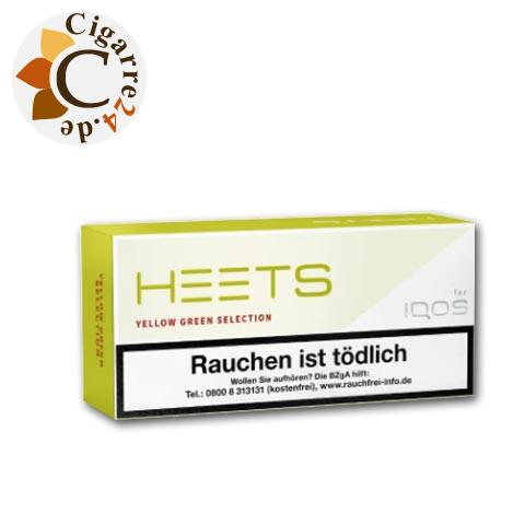 Heets Yellow Green Selection Tobacco Sticks
