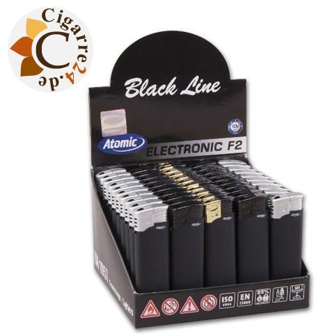 Einwegfeuerzeug Atomic F2 Black Line
